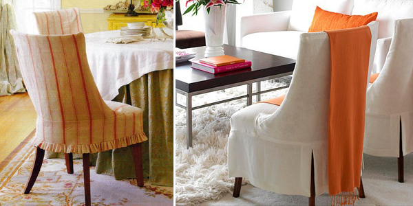 Interesting Chair Slipcovers With Dressmaker Details Throughout Design Inspiration