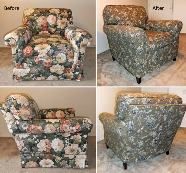 Chair Slipcover Before After