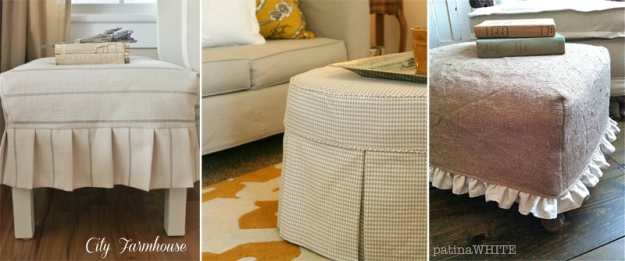 Custom Ottoman Slipcover Ideas