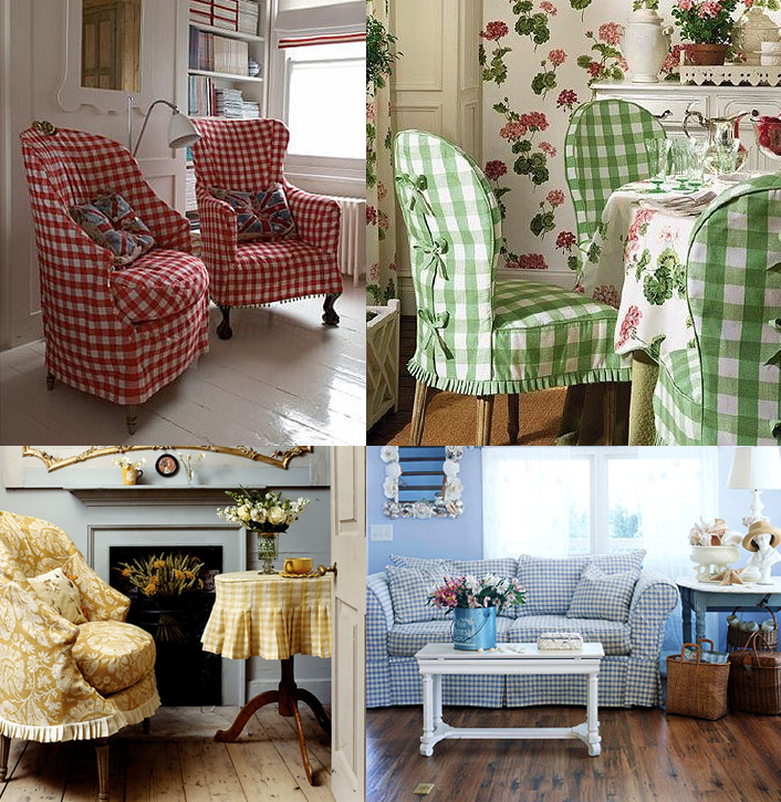 Gingham Slipcovers For Any Decor Style