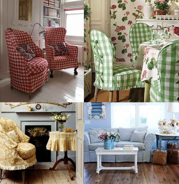 Gingham Slipcovers for Slipcovermaker.com
