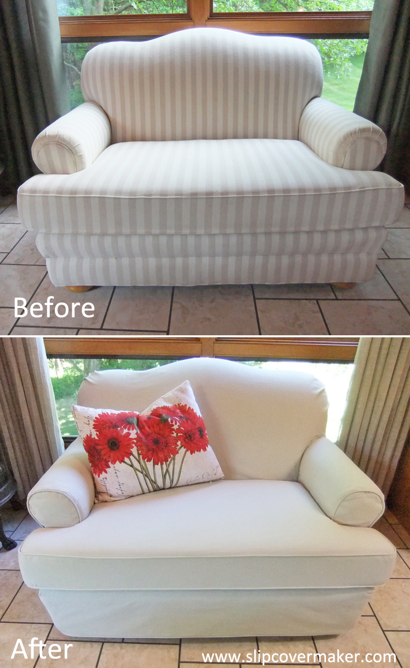 Canvas Slipcover For Camelback Loveseat