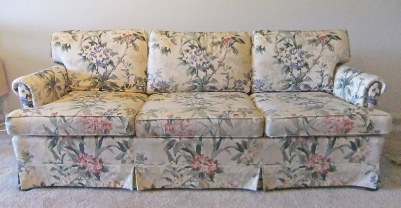 Natural Canvas Slipcover for Ethan Allen Sofa  The Slipcover Maker