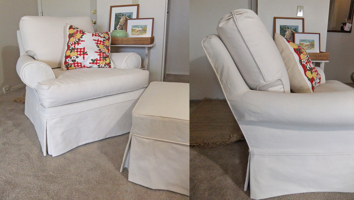 Custom Slipcovers in Natural Canvas The Slipcover Maker