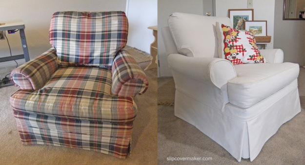Cargo Canvas Slipcover by Karen's Custom Slipcovers