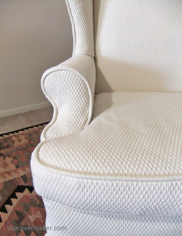 Matelasse Slipcover For Wingback Chair. Matelasse Slipcover By Karenu0027s  Custom Slipcovers