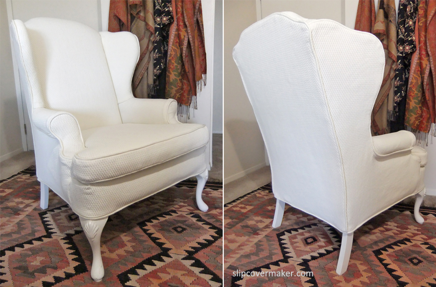 Custom slipcover the slipcover maker for Furniture slipcovers for wingback chairs