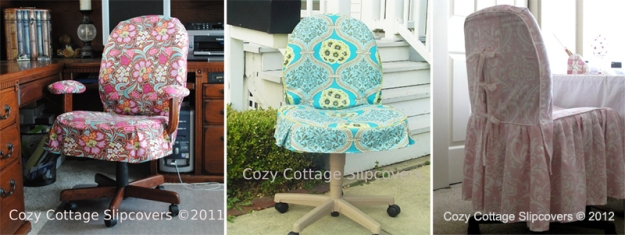 Cozy Cottage Office Chair Slipcovers