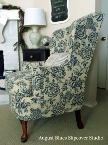August Blues Slipcover Studio