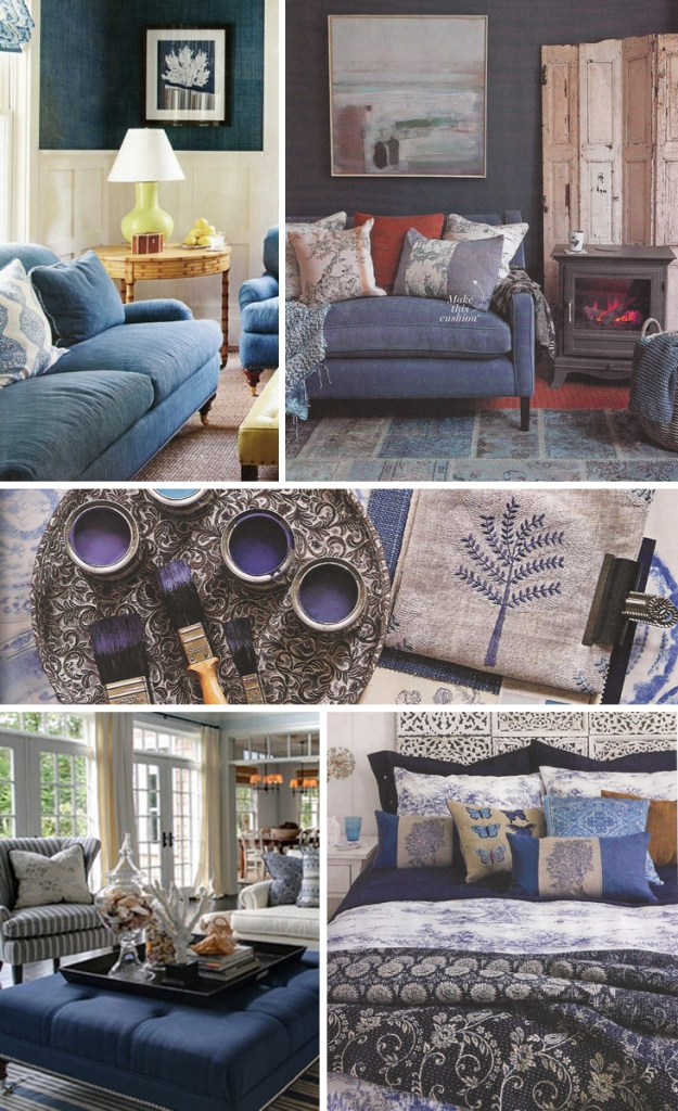 Blue Slipcover Inspiration