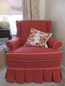 Canvas Slipcover by Karen Powell