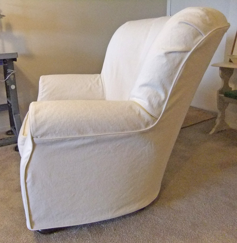 Attirant Natural Denim Slipcover Side By Karen Powell