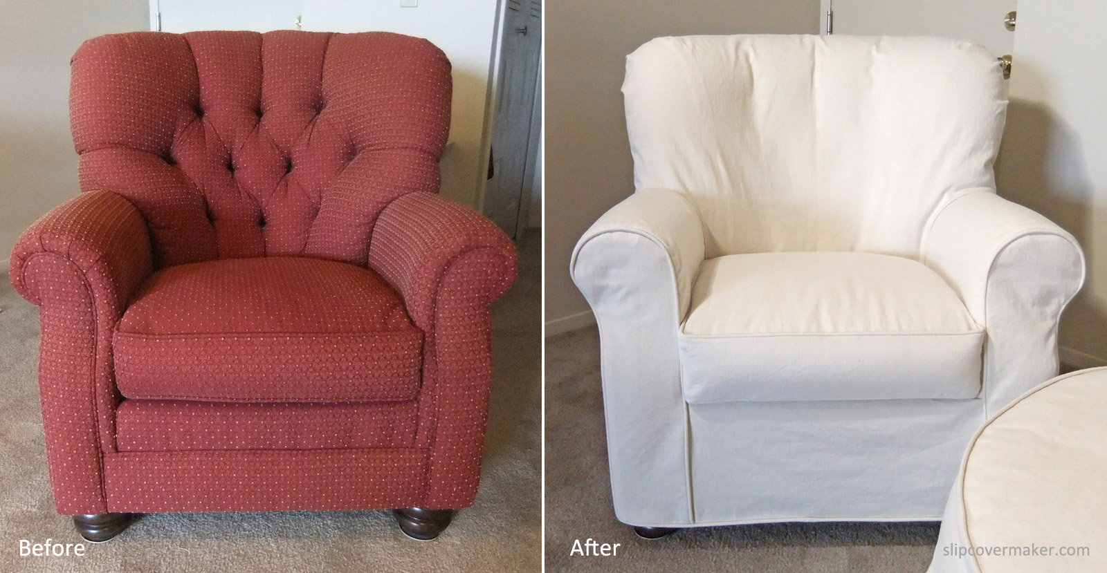 Superieur Natural Denim Slipcover For Curvy Armchair. Natural Denim Slipcover By  Karen Powell