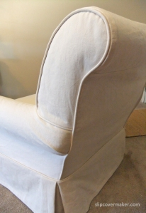 Natural Denim Slipcover Detail