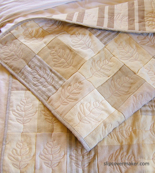 Hemp quilt by Karen Powell