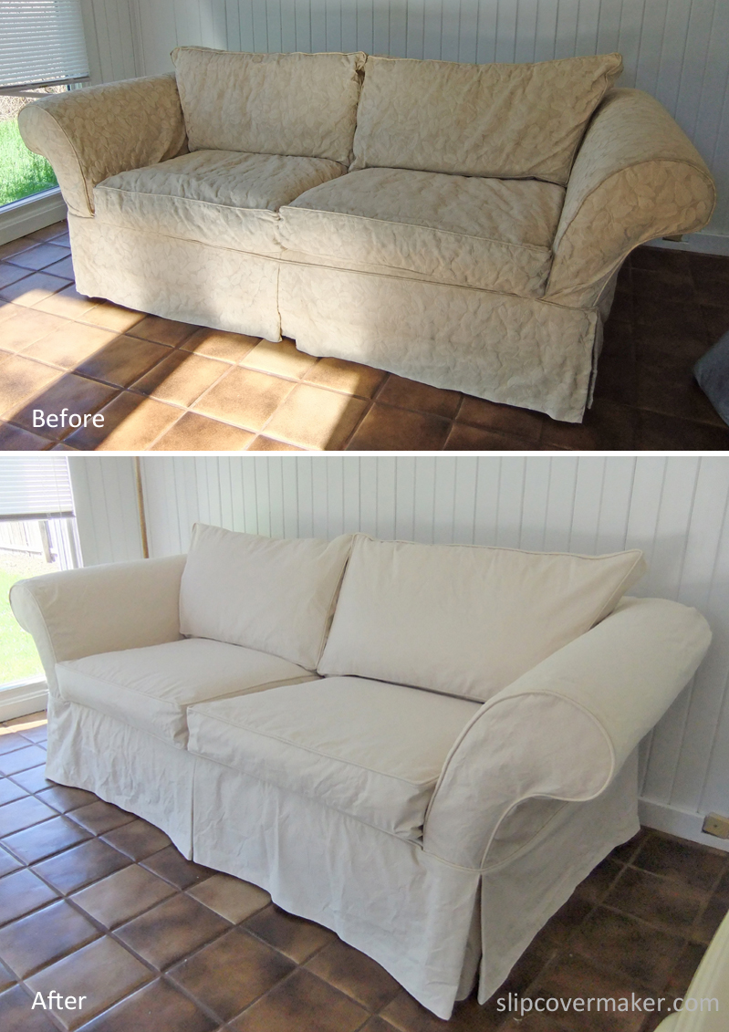 Genial A Good Canvas For Casual Sofa Slipcovers