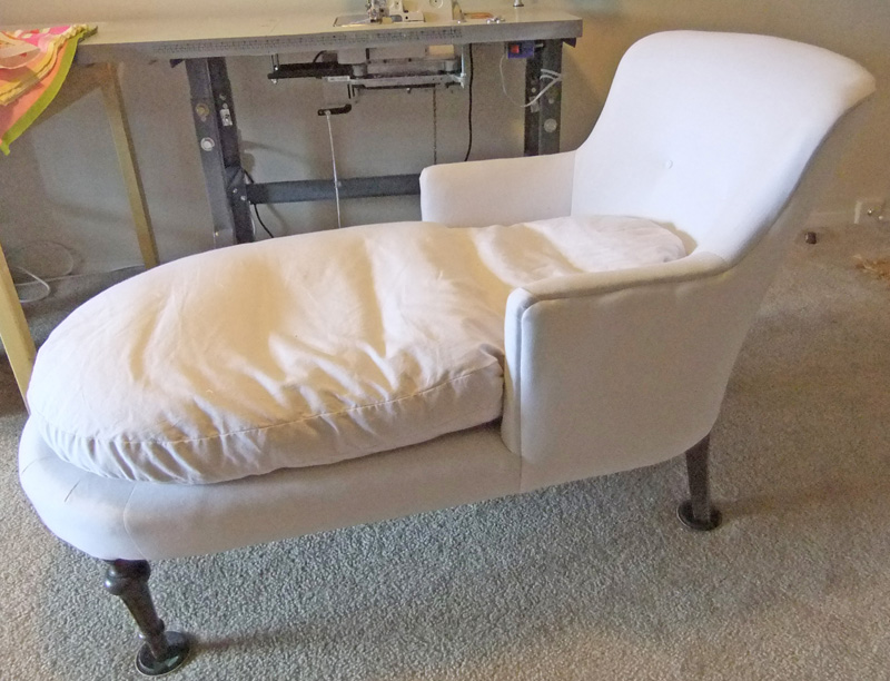 Chaise slipcover the slipcover maker for Chaise lounge cover pattern