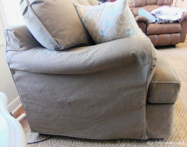 Denim slipcover by Karen Powell