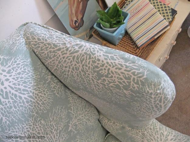 Coral Print Slipcover for Ethan Allen Chair : The Slipcover Maker