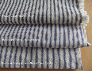 Blue Ticking Stripe Fabrics