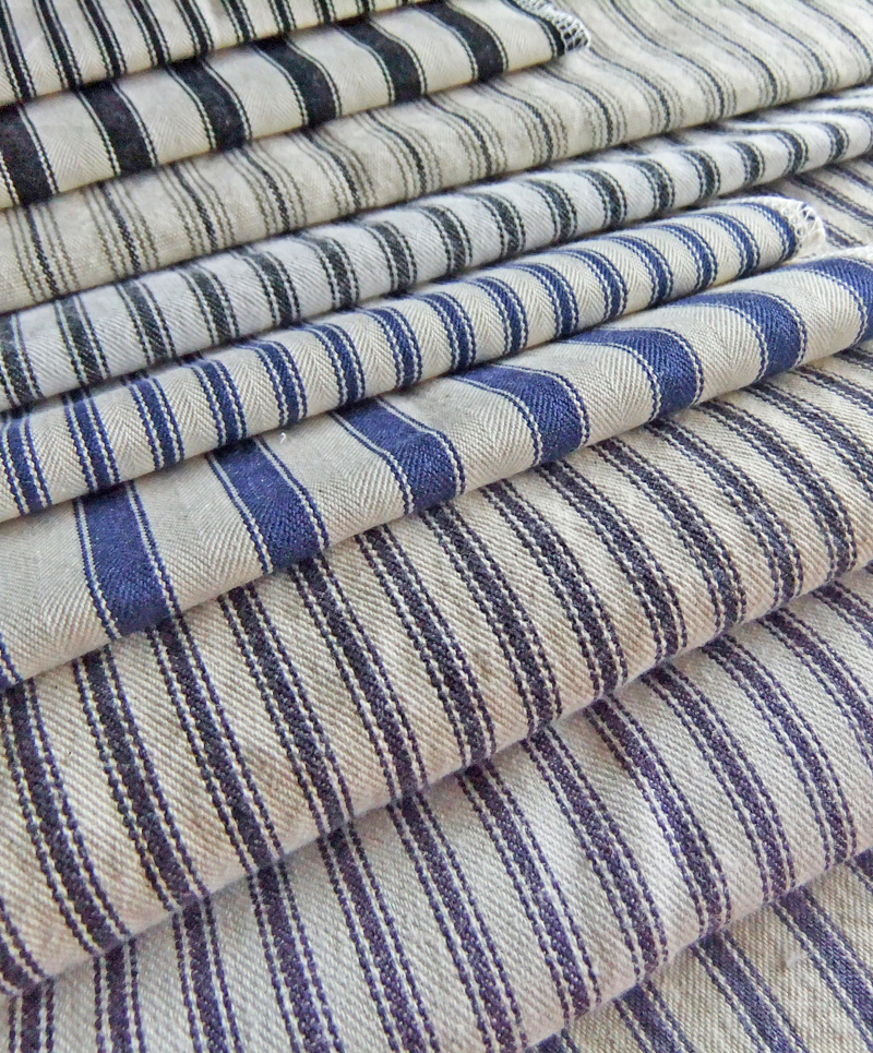 Ticking stripe fabric reviews the slipcover maker for Ticking fabric