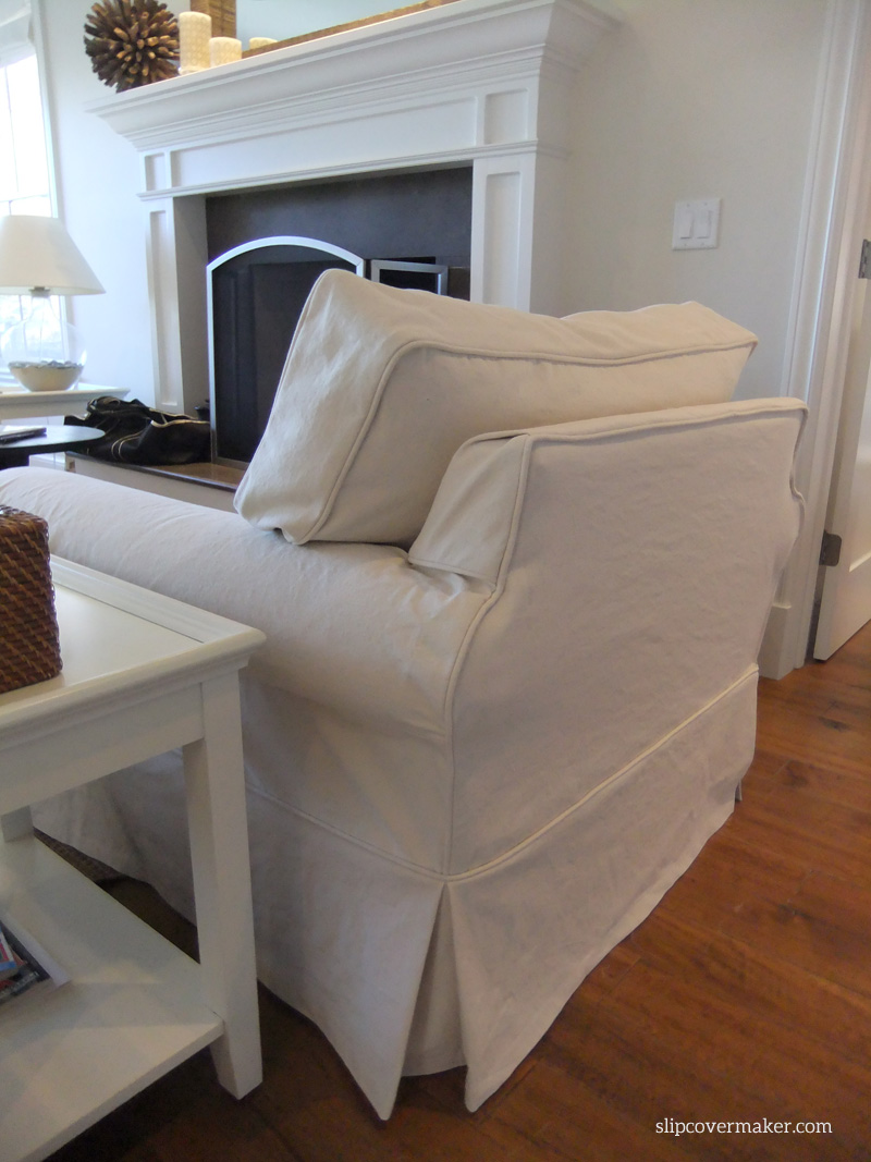 Merveilleux AFTER: Natural Denim Chair Slipcover