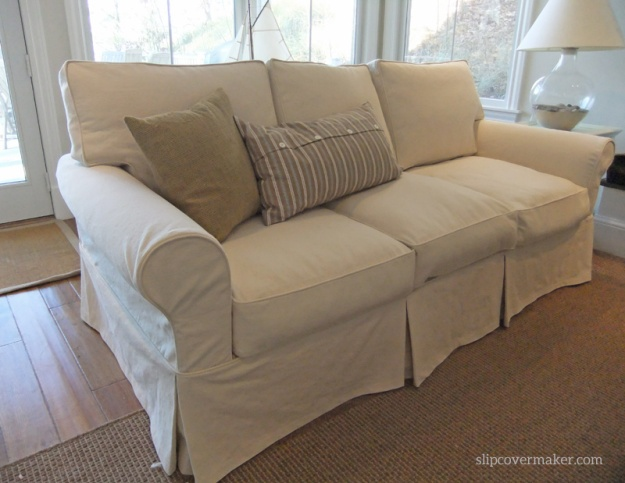 AFTER: new natural denim slipcover