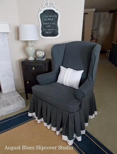 Armchair Slipcovers With Soft Amp Loose Pleated Skirt The