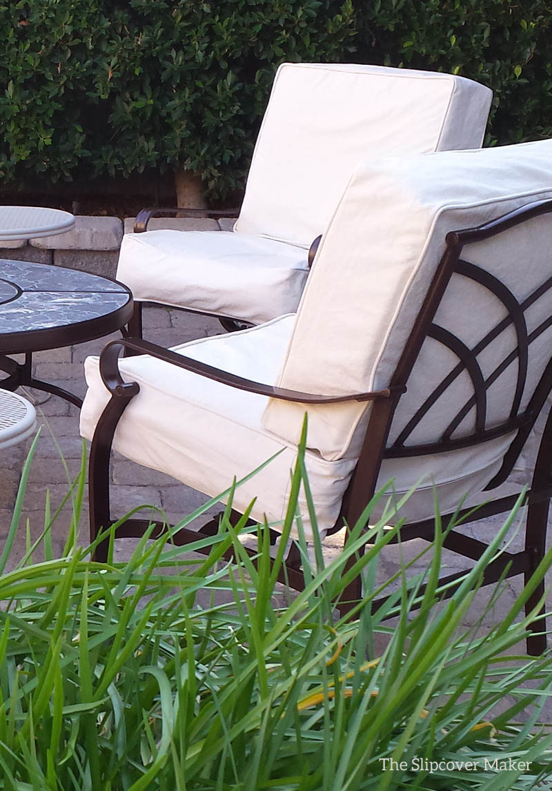 Natural Duck Slipcovers for the Patio