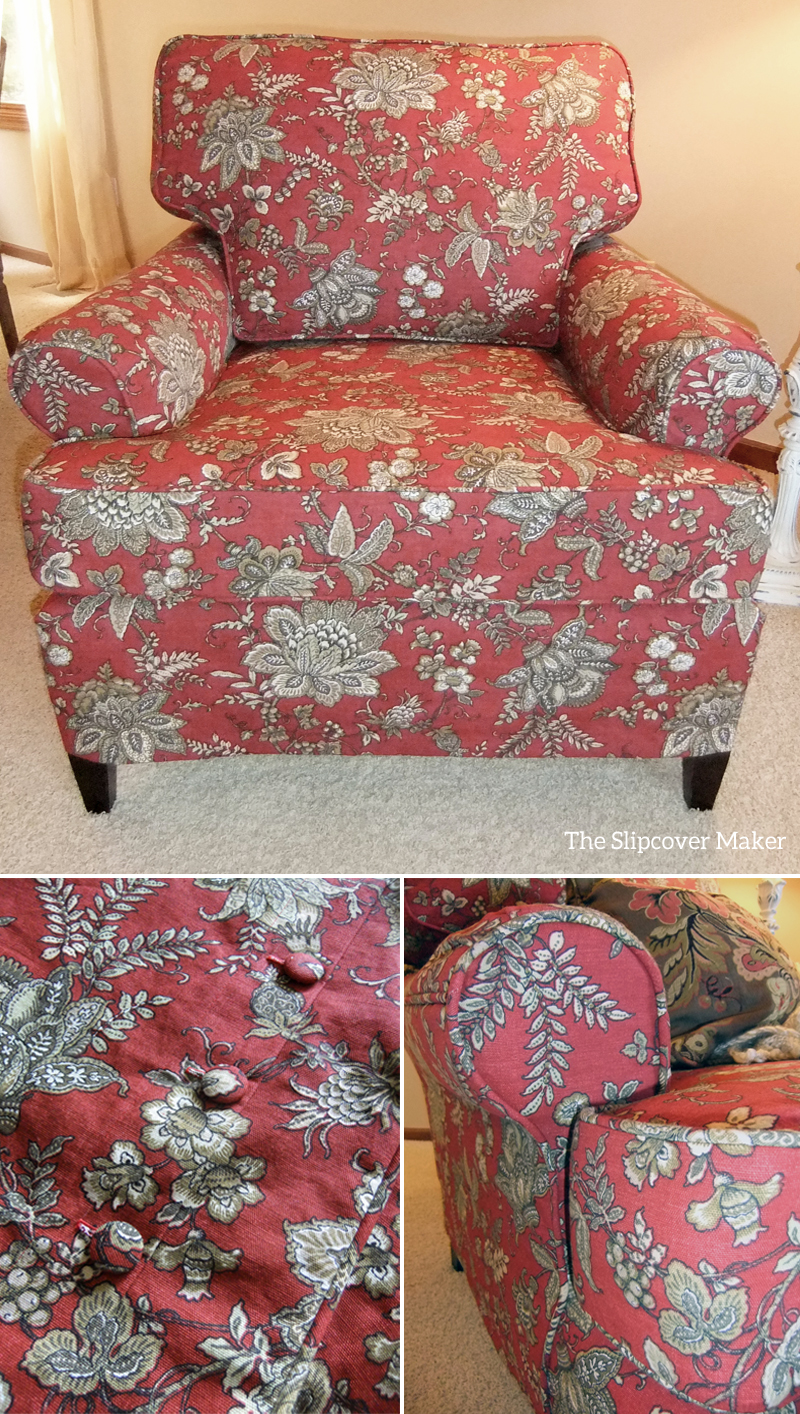 Annetteu0027s Chair With Slipcover