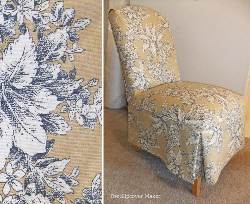 Superbe Pretty Toile Slipcovers For Parson Chairs