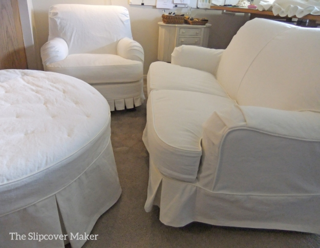 White Denim Slipcovers by Karen Powell
