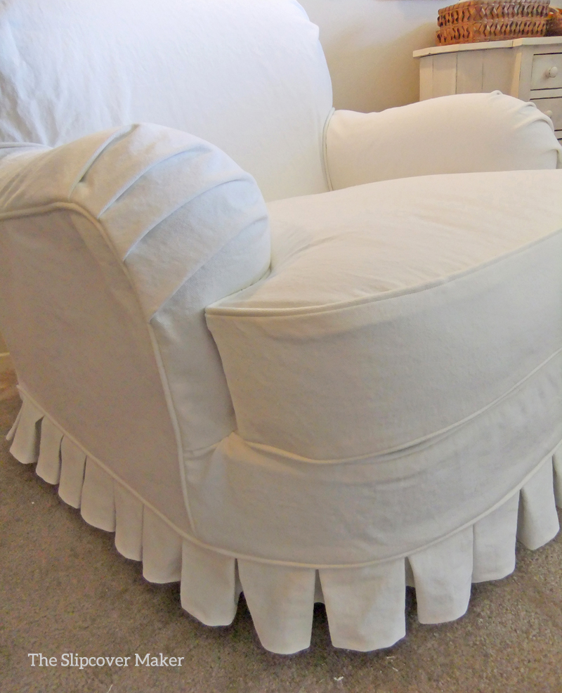 Superieur White Denim Chair Slipcover