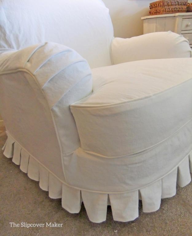 White Denim Chair Slipcover