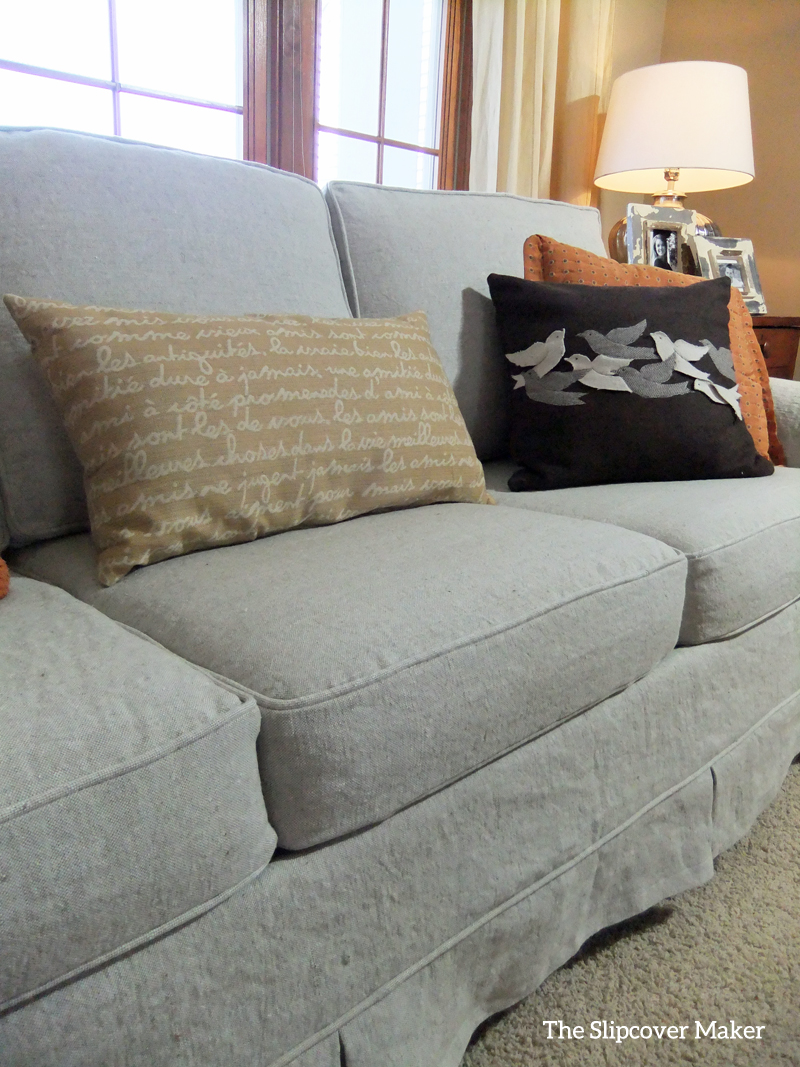 Linen Sofa Slipcover Makeover | The Slipcover Maker