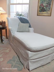 Matelasse Slipcover for Vintage Chaise