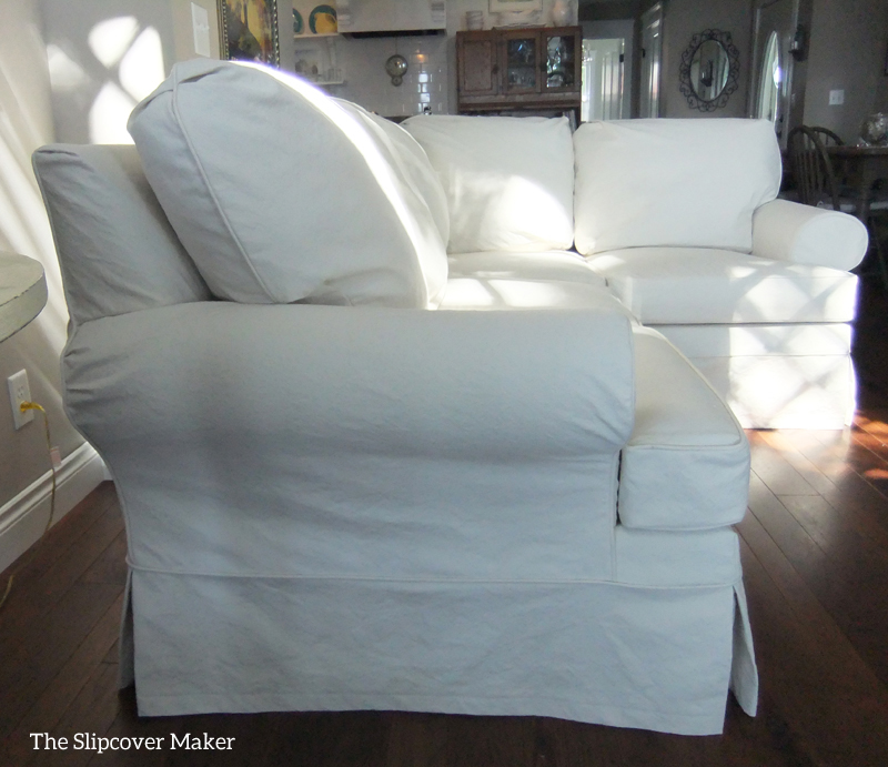 slipcover for slipcovers sofas sectional pin stretch
