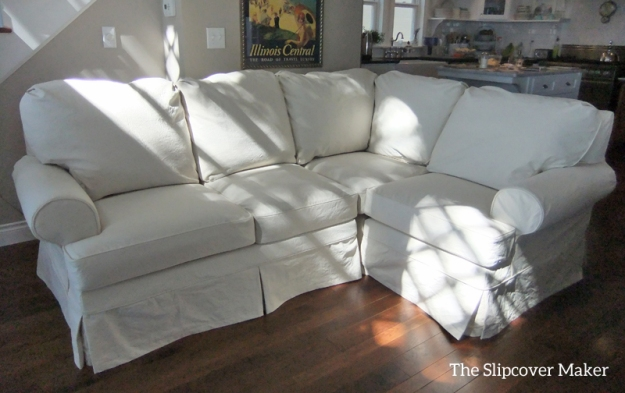Natural Canvas Slipcover for Sectional Sofa