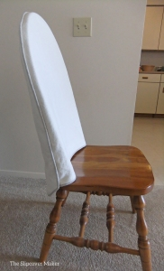 Cotton Linen Topper for Windsor Chair