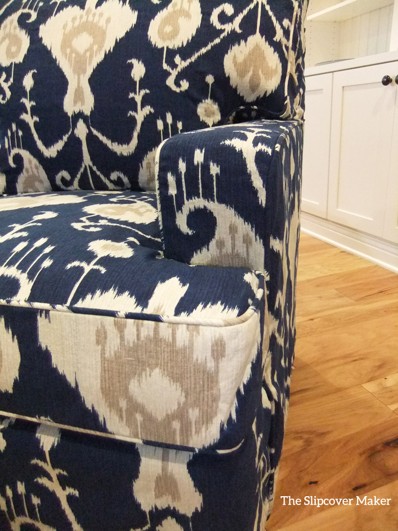 Slipcover fabric by the yard - Magnolia Java Ikat Slipcover By Karen Powell