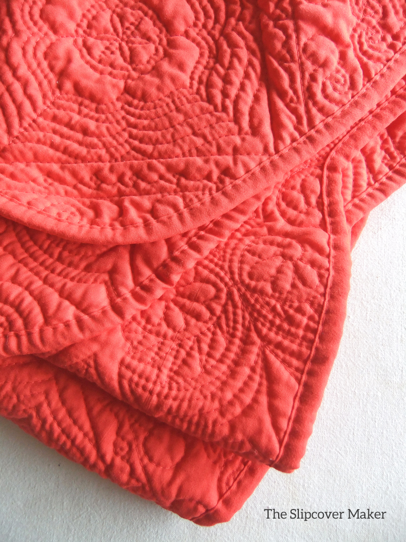 ... 800 × 1067 In Orange Quilted Coverlet.