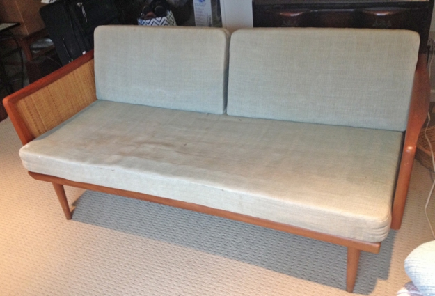 Vintage Settee Before Slipcover