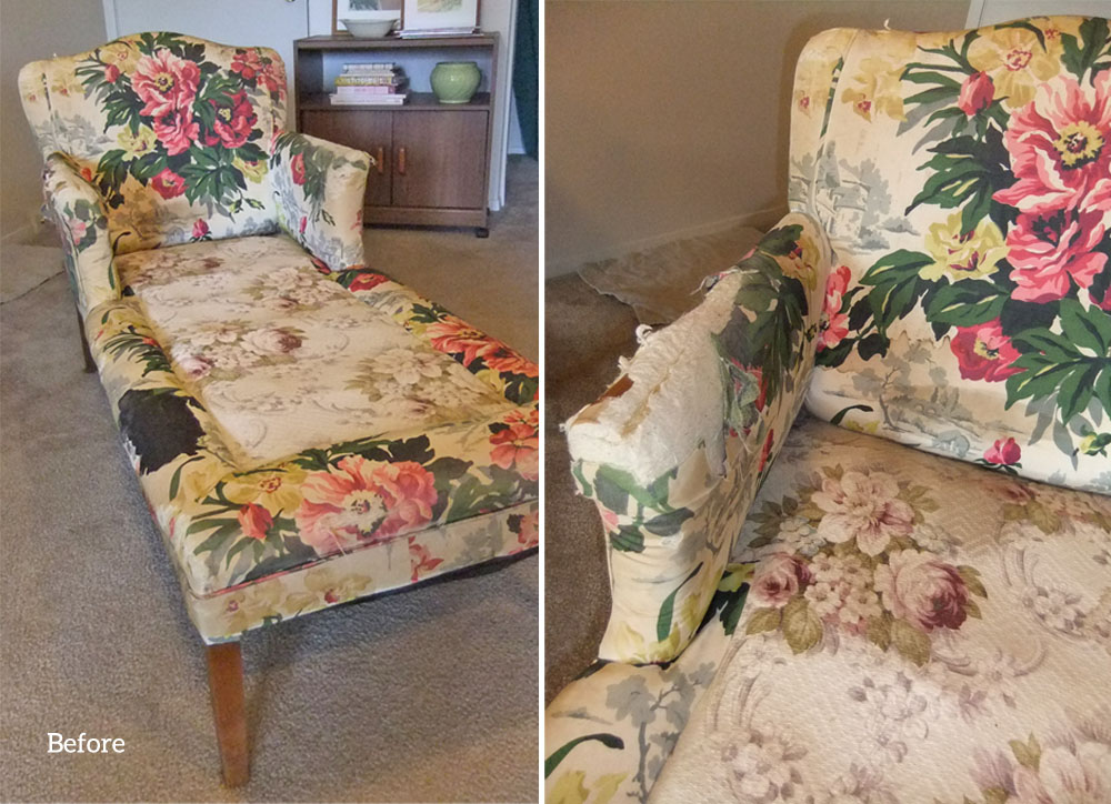 Vintage Chaise Lounge : chaise lounge slipcovers - Sectionals, Sofas & Couches