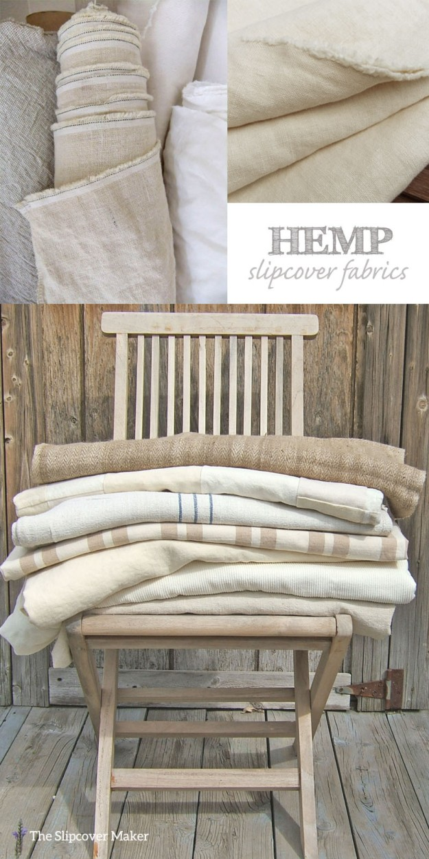 Favorite Hemp Slipcover Fabrics