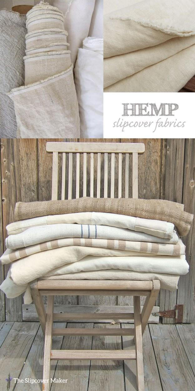 Favorite Hemp Slipcover Fabrics