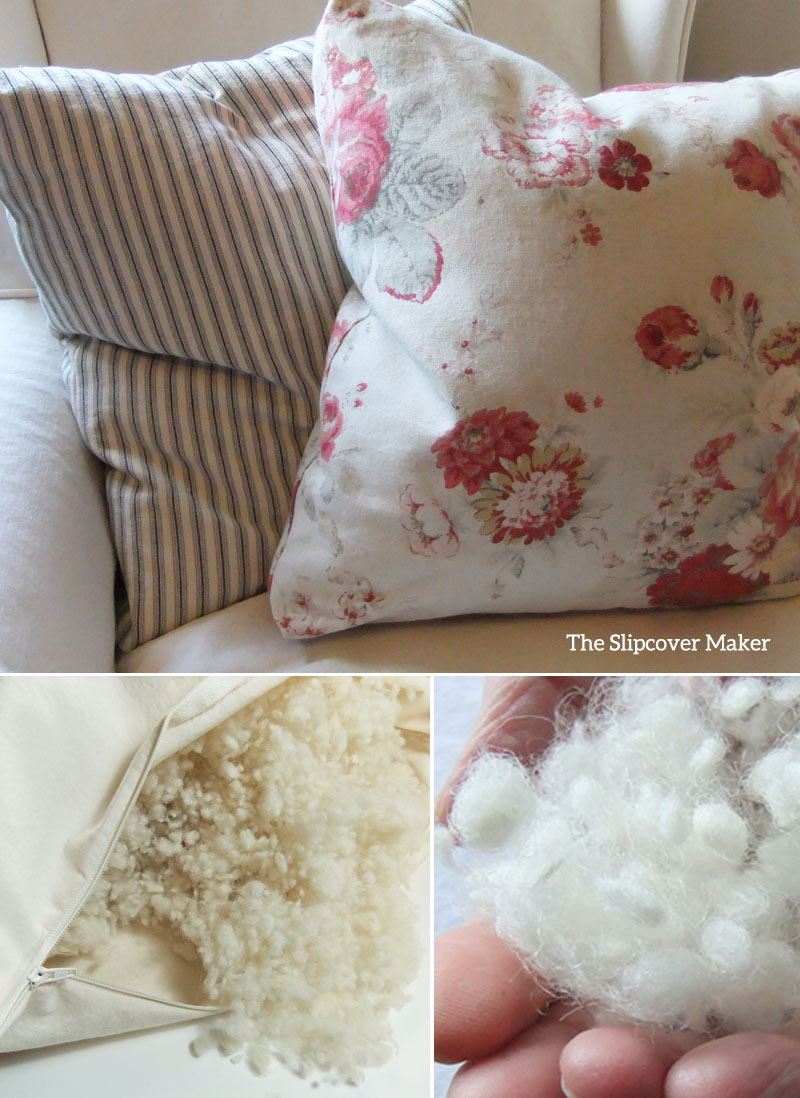Wooly Bolus: Feel-Good Stuffing for Pillows The Slipcover Maker