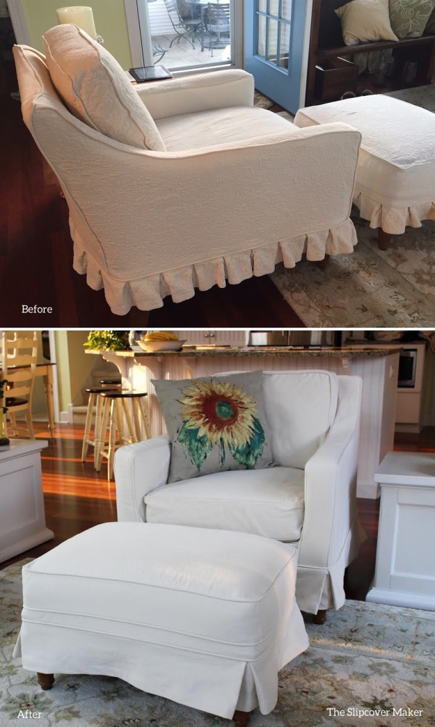 Natural Denim Slipcover for Felicity Chair