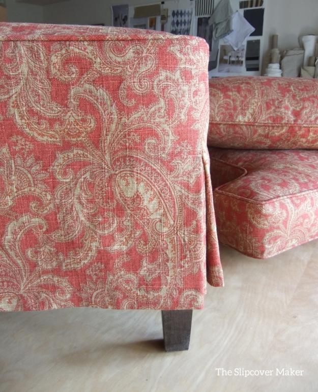 Ottoman Slipcover in Raymond Waites Mill Creek Fabric