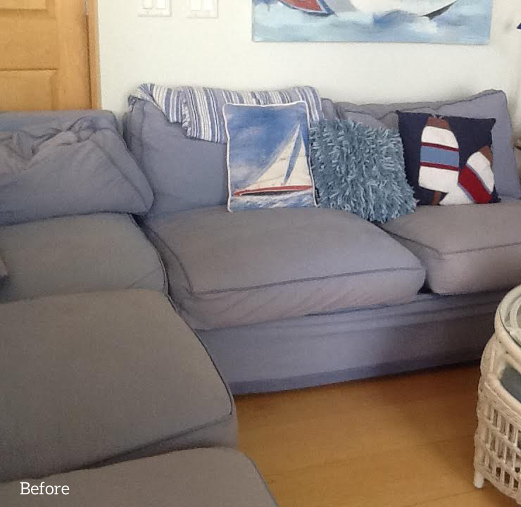 Blue Canvas Slipcover for Big Sectional Sofa : slipcovers for sectional couches - Sectionals, Sofas & Couches