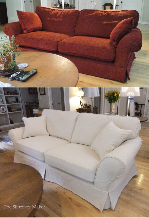 Natural Denim Sofa Slipcover